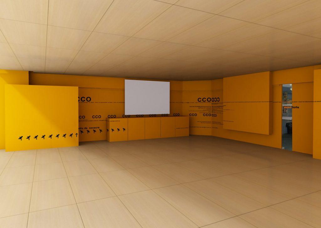 Modélisation et rendu 3D pour un espace presse