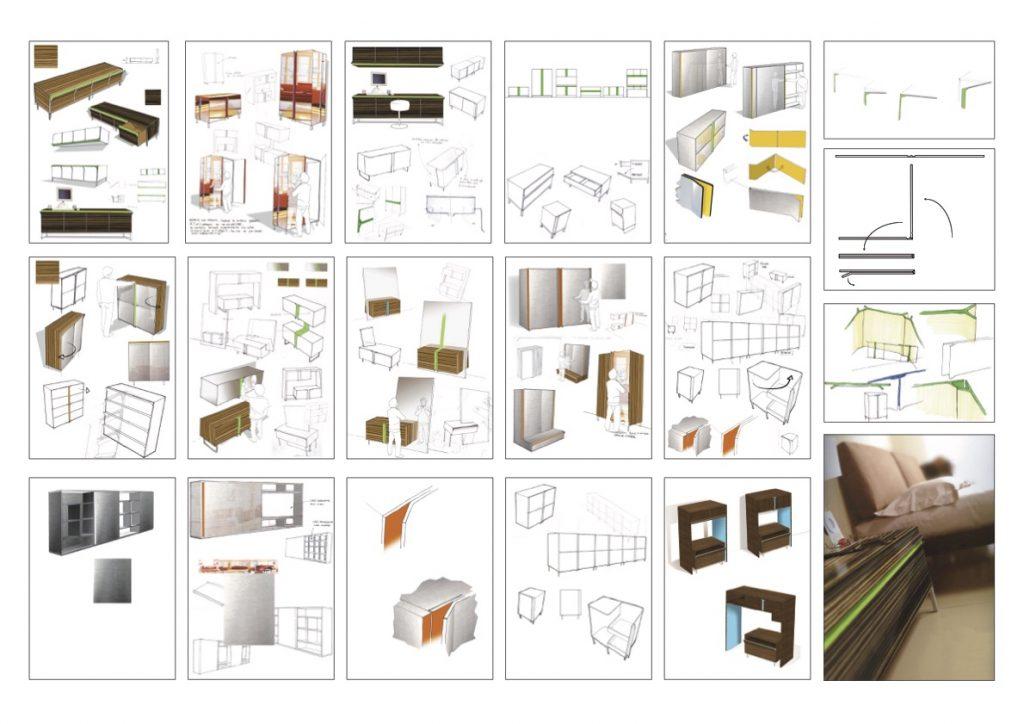Recherches de mobilier pour une collection Roche Bobois