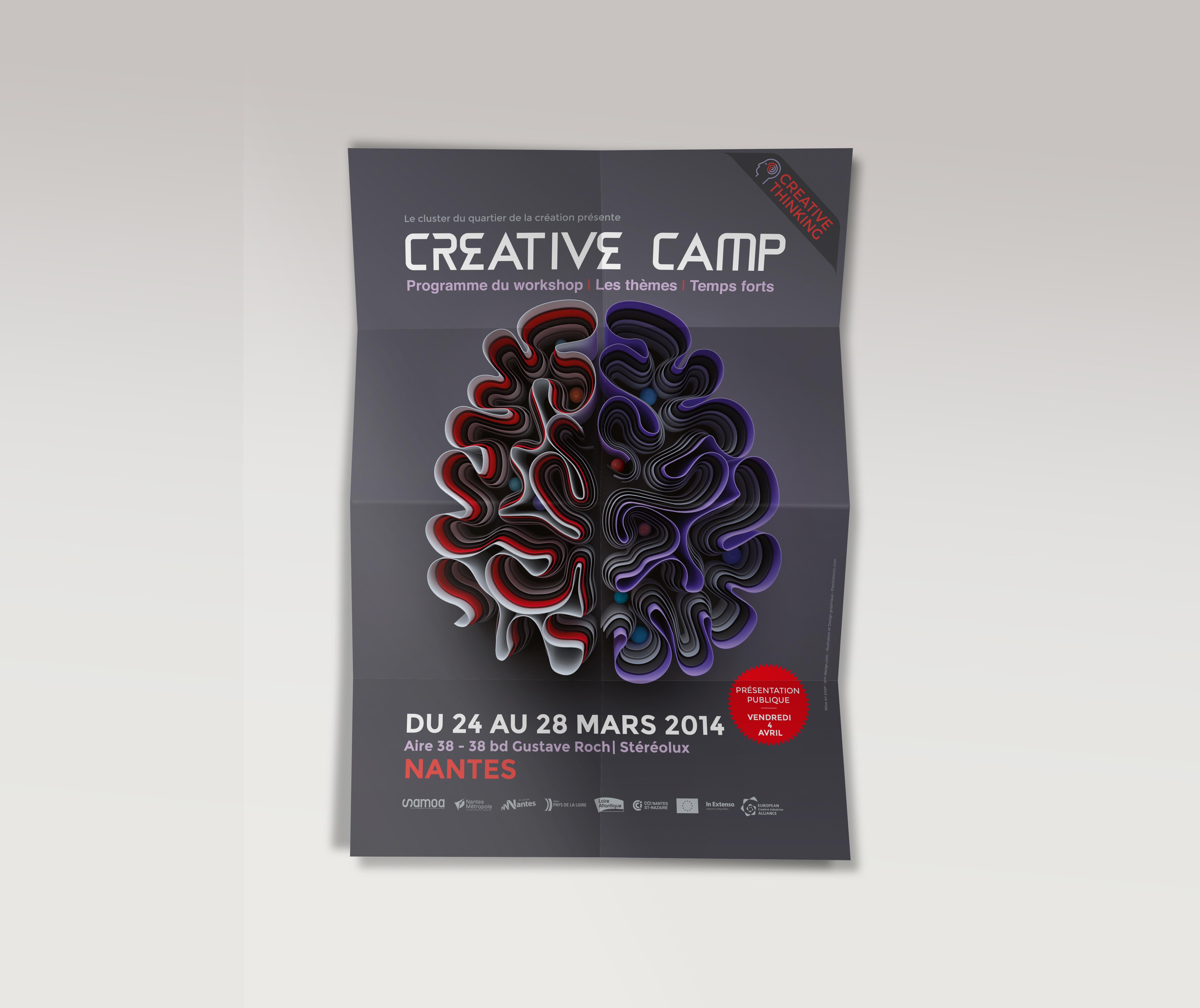 Affiche A3 creative camp samoa nantes