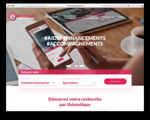 """Site internet """"Entreprise en Pays de la Loire"""""""