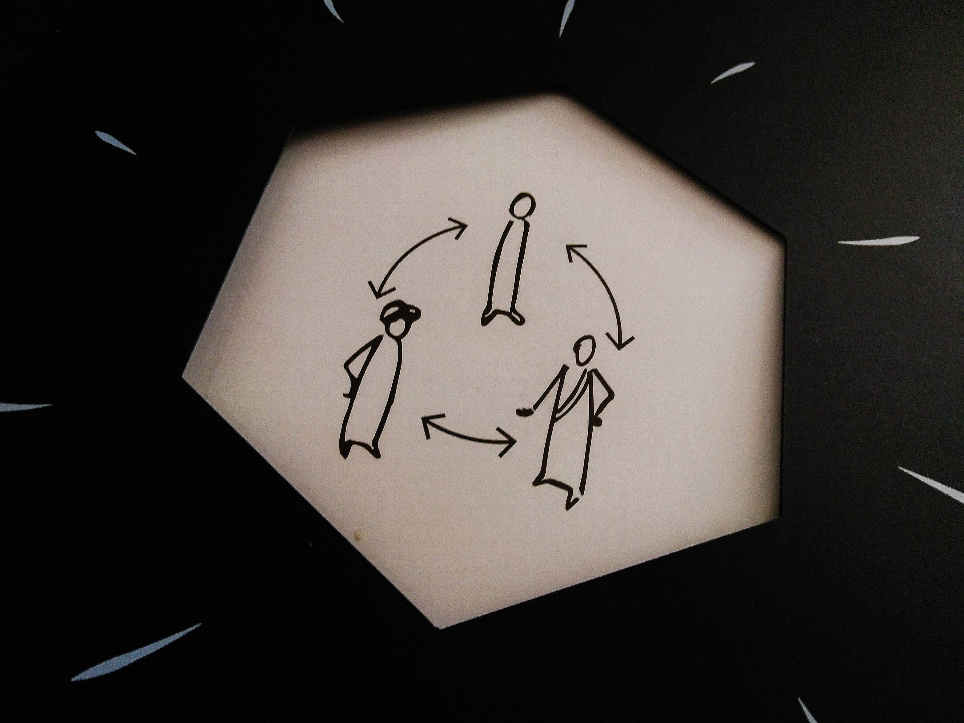 illustration du dialogue citoyen nantais, triangle habitant, élu, agent